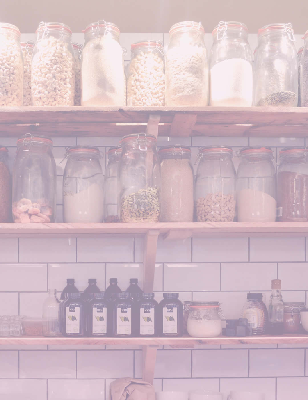 Various glass jars for home organization