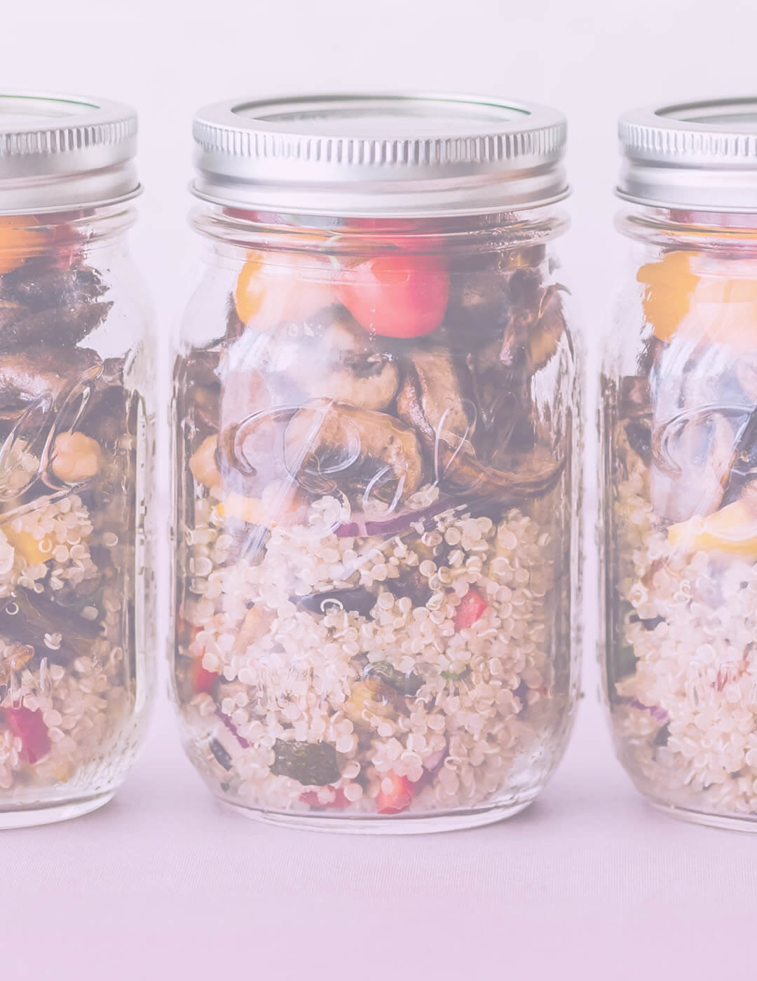quinoa salad in a jar as one of the best foods for mental health