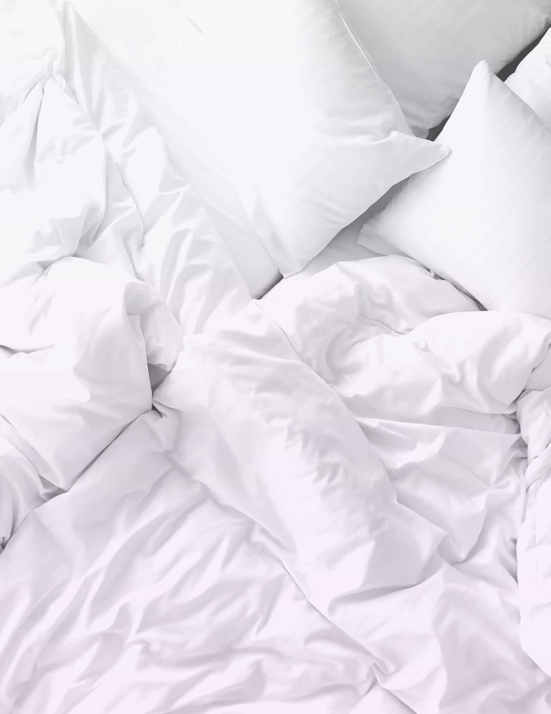 weighted blanket (white) as an idea on how to sleep with anxiety