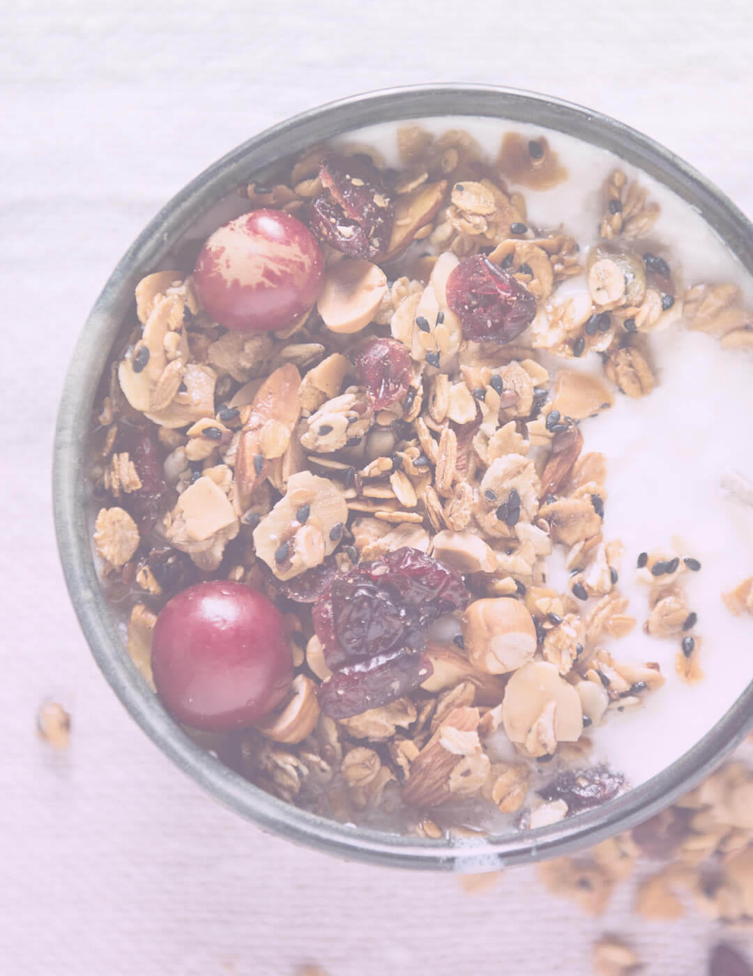 granola with berries and yogurt as one of the best foods for mental health