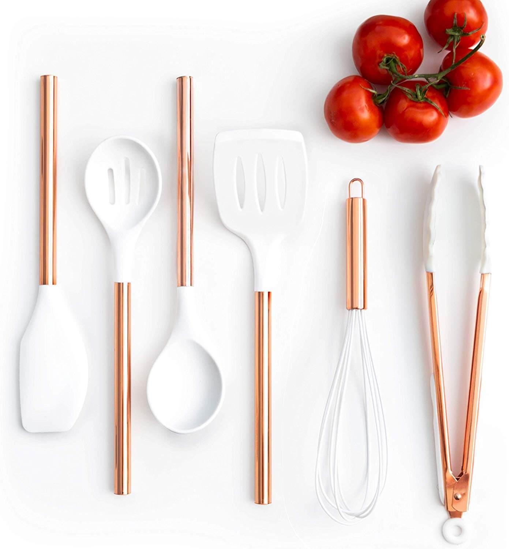 pretty kitchen utensils set on the table