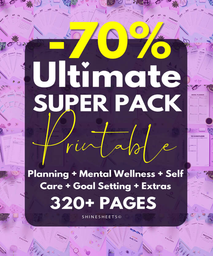 Ultimate Printable Super Pack by ShineSheets