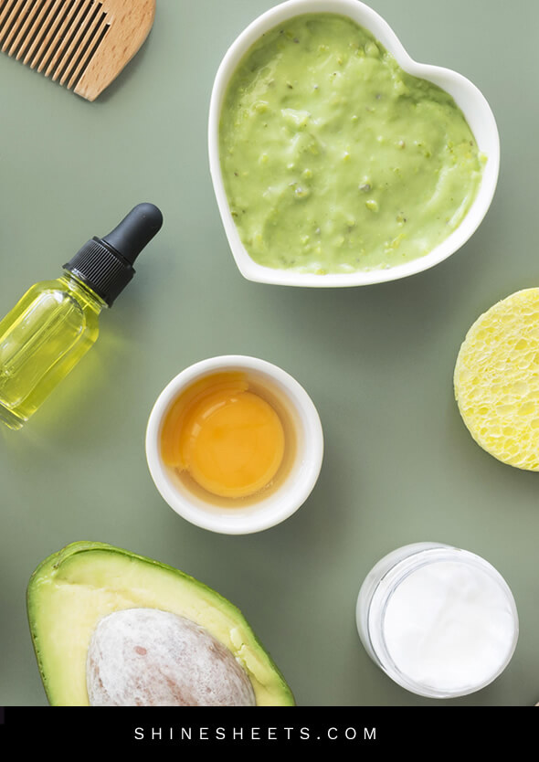 avocado and egg face mask as one of the natural remedies for dry skin
