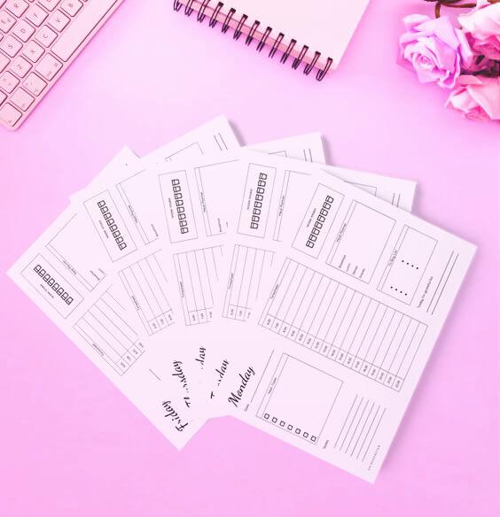 Free Printable Weekly Desktop Planner