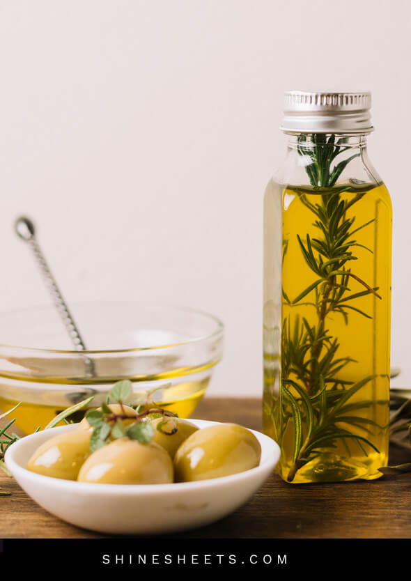 olive oil as one of the natural remedies for dry skin