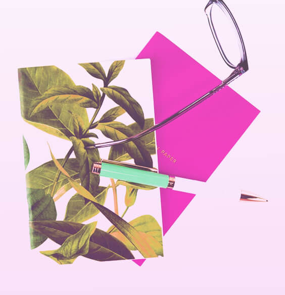 journal for therapy and a pen on the table