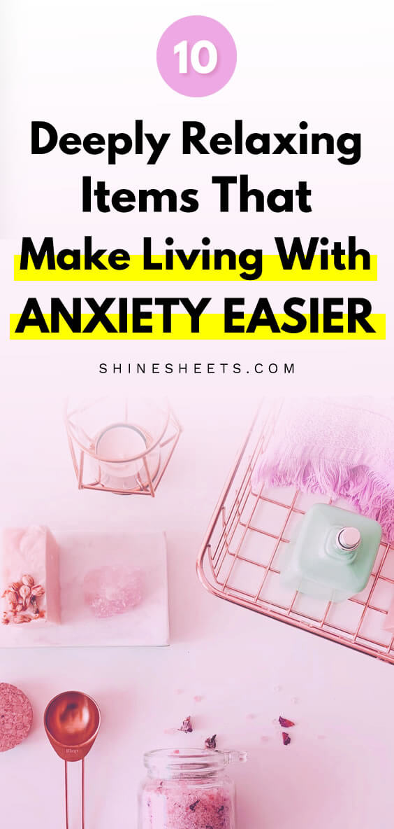various calming gifts for people with anxiety