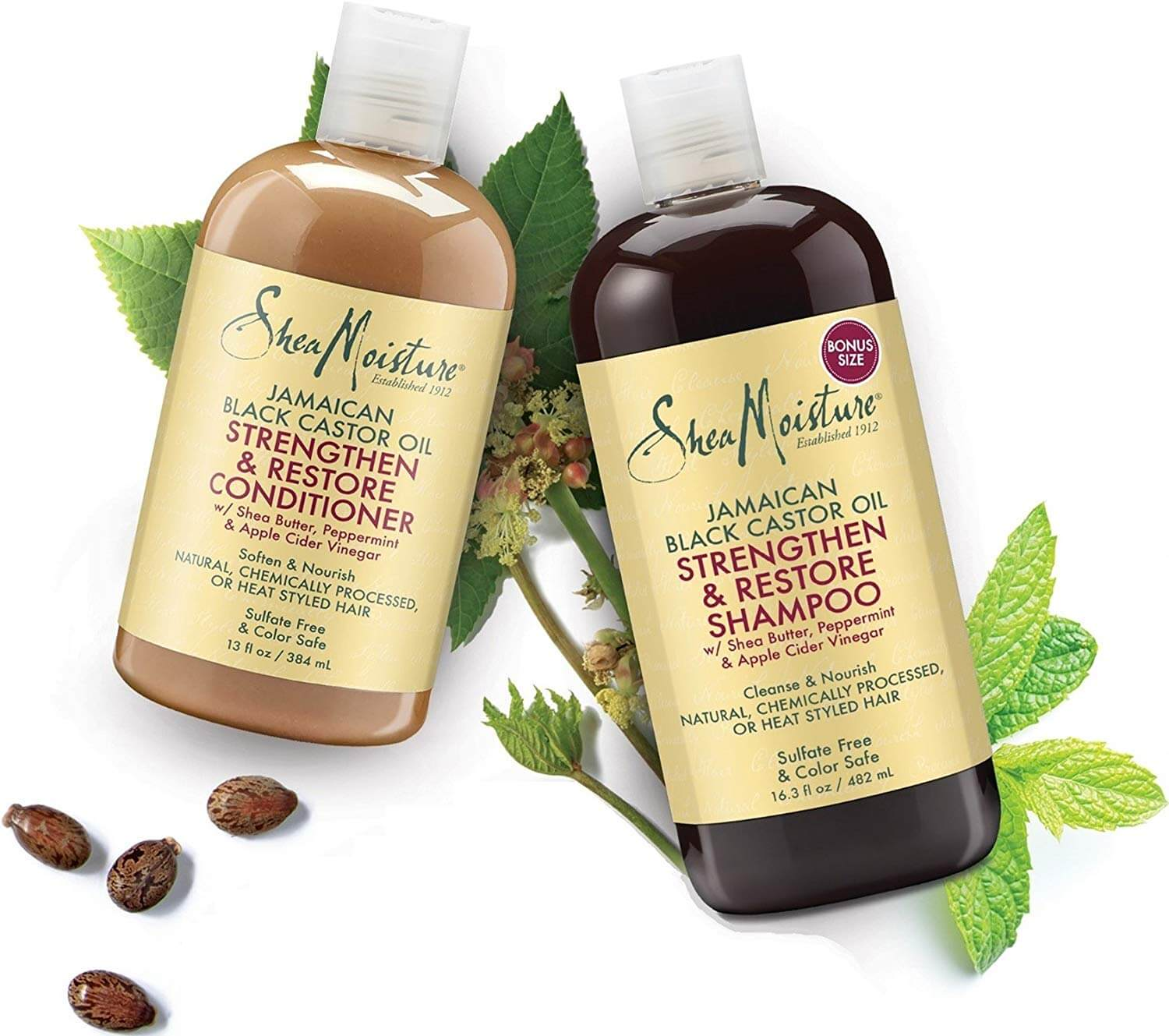 Castor oil shampoo and conditioner - perfect combo to make your hair grow faster