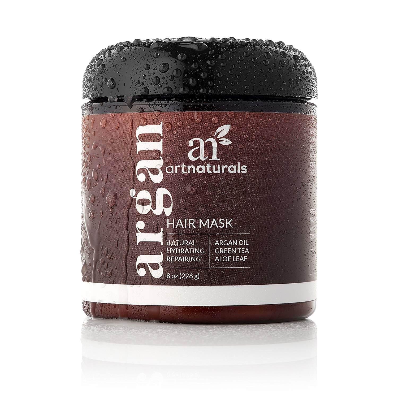Argan oil natural hydratin and repairing hair mask to make hair grow faster