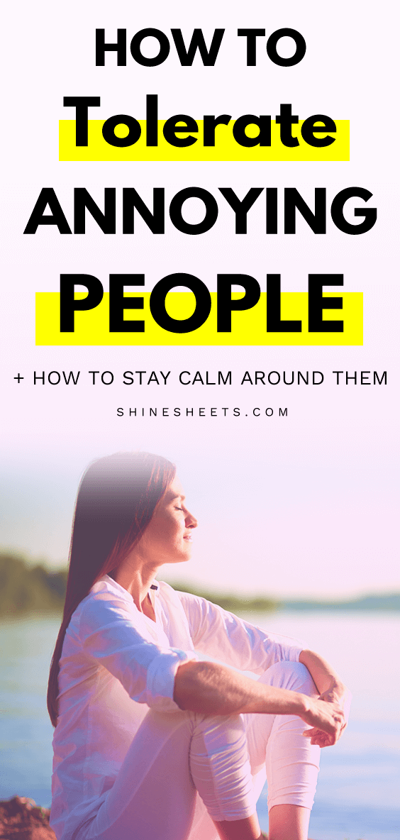 calm woman who learned how to deal with annoying people