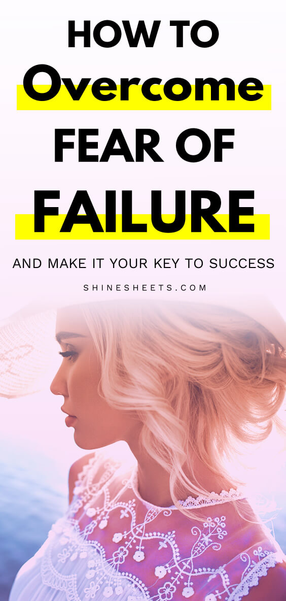 beautiful blonde woman who has overcome fear of failure