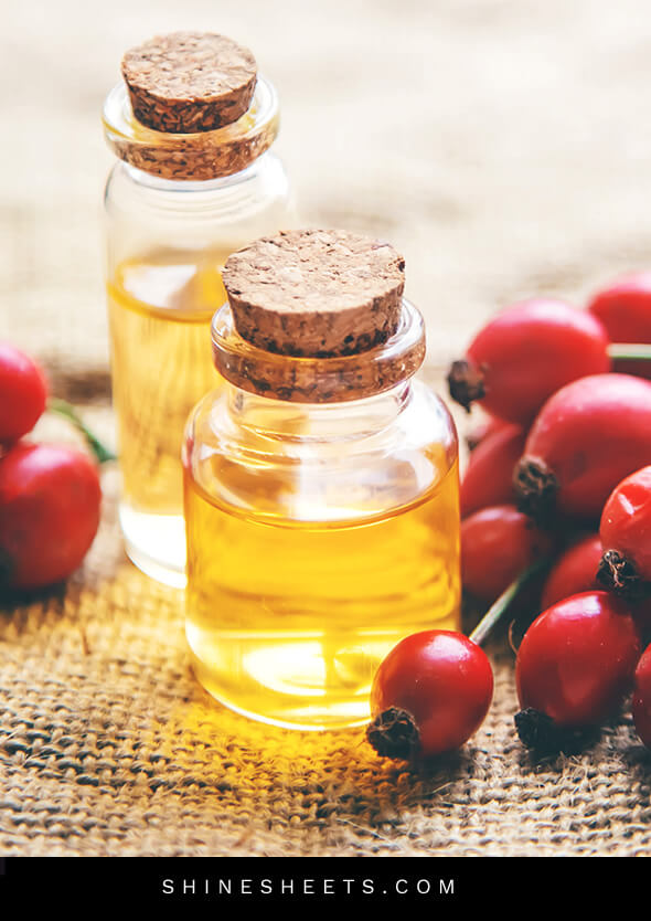 rosehip oil for face and rosehip berries