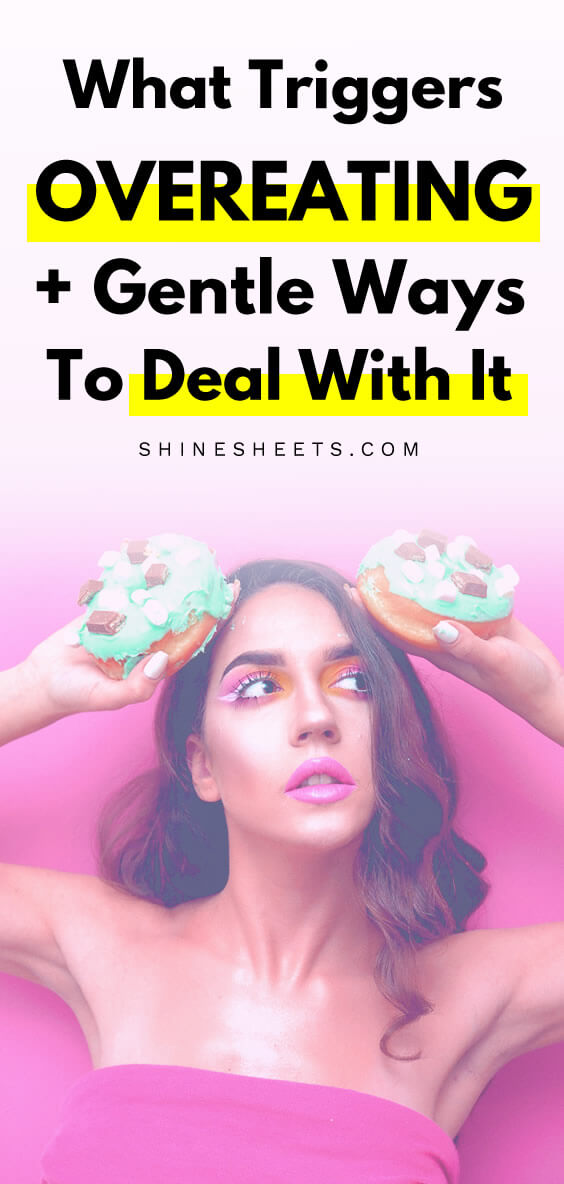 woman with doughnuts as a concept image on how to stop binge eating