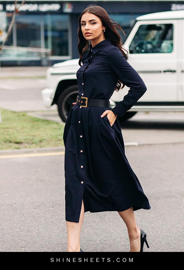 stylish high-class woman walking on the street