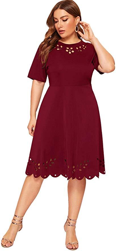 romantic bordo dress