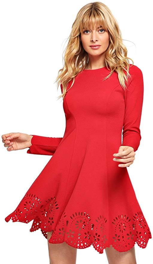 cute red dress for a date