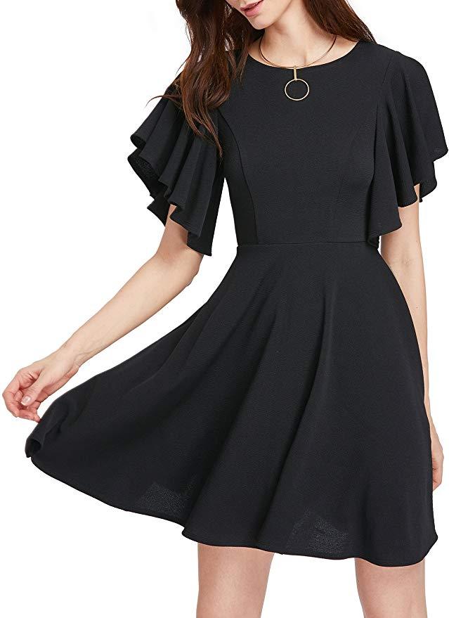 flowy black dress for a date