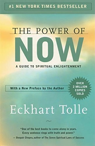 """Book cover of """"The power of now"""" By Eckhart Tolle"""