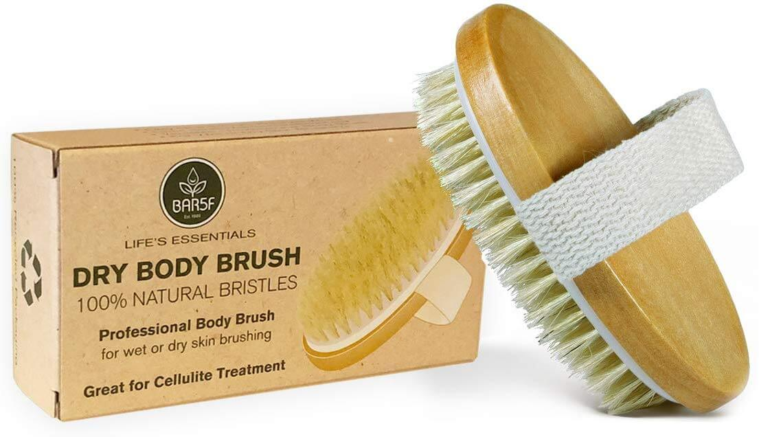 dry body brush for a spa day at home