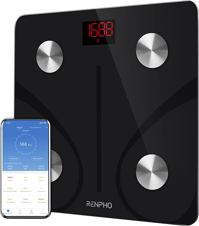 RENPHO Body Fat Scale Smart BMI Scale Digital Bathroom Wireless Weight Scale, Body Composition Analyzer