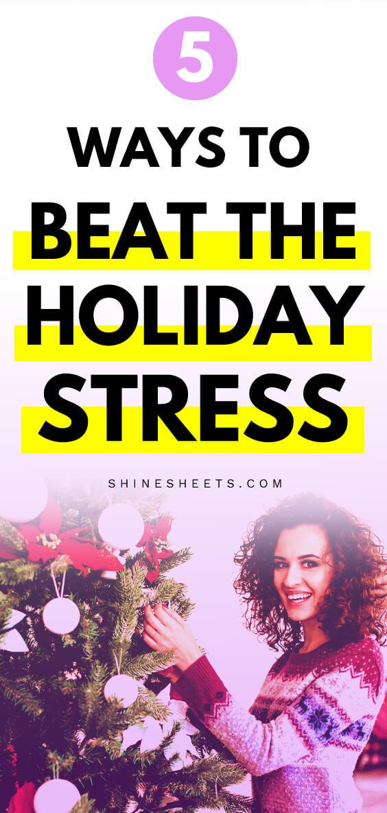 manage holiday stress
