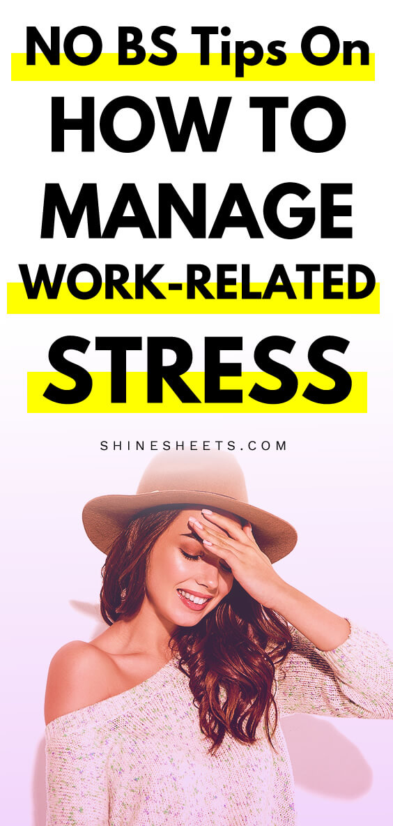 Stressed beautiful girl is smiling despite her work-related stress