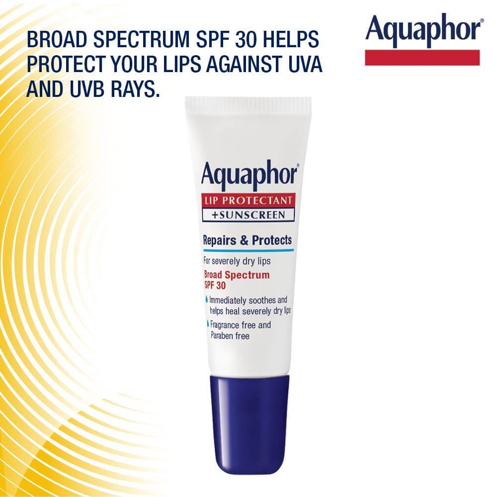 Aquaphor Lip Protectant and Sunscreen Ointment - Broad Spectrum SPF 30