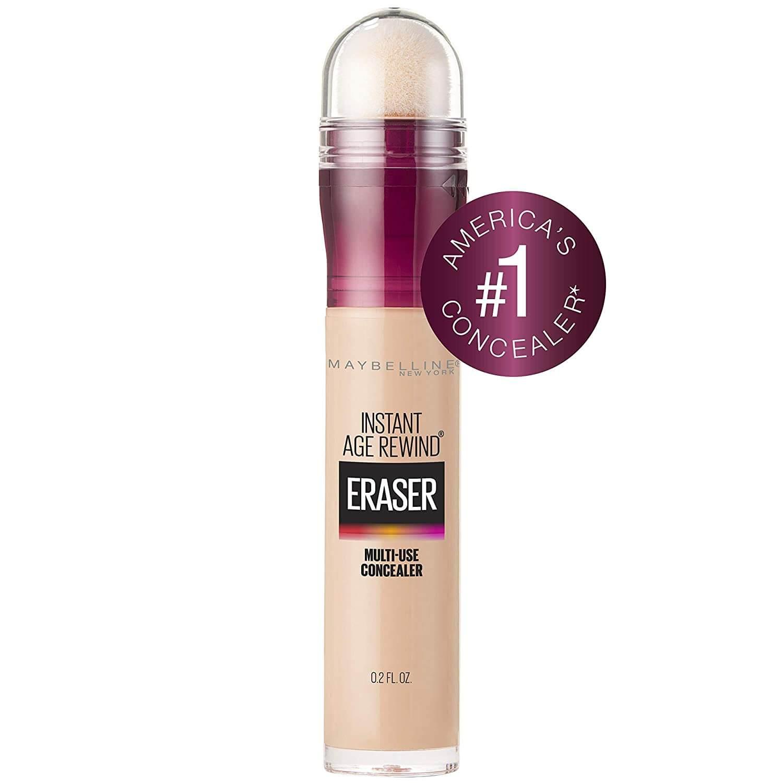 A makeup essential - bottle of Maybelline Instant Age Rewind Eraser concealer