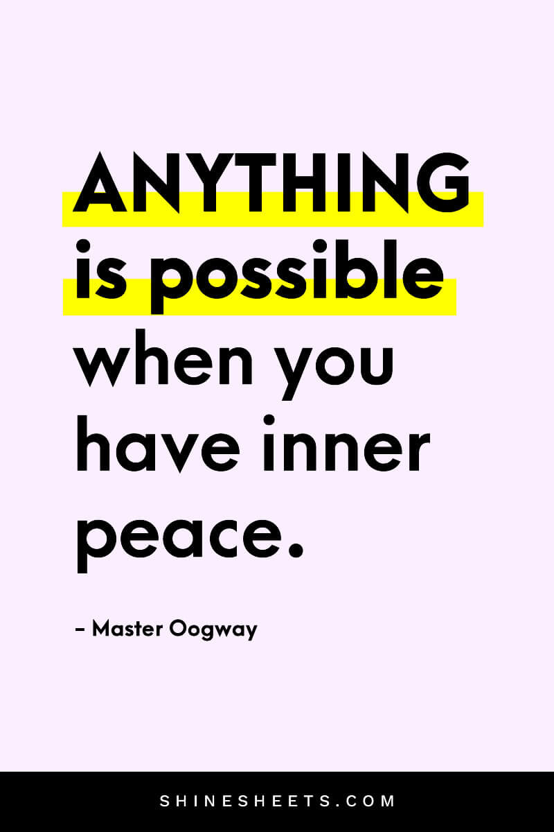 An ispiring quote about positive vibes by Master Oogway