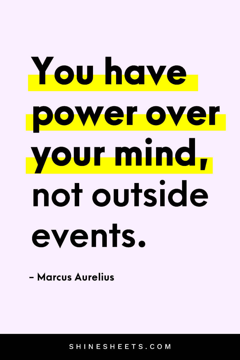 An ispiring quote about positive vibes by Marc Aurelius