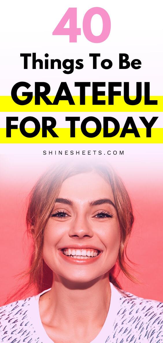 grateful, smiling girl face
