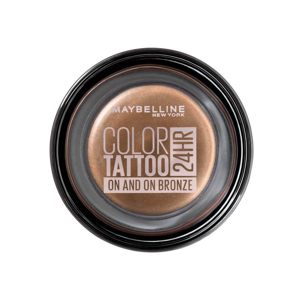 Bronze piece of natural eyeshadow color