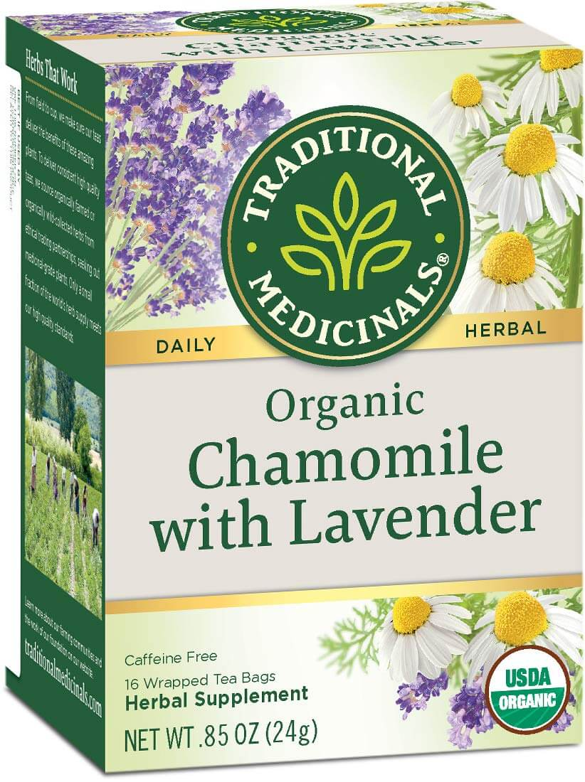 chamomile herbs for anxiety in a form of tea