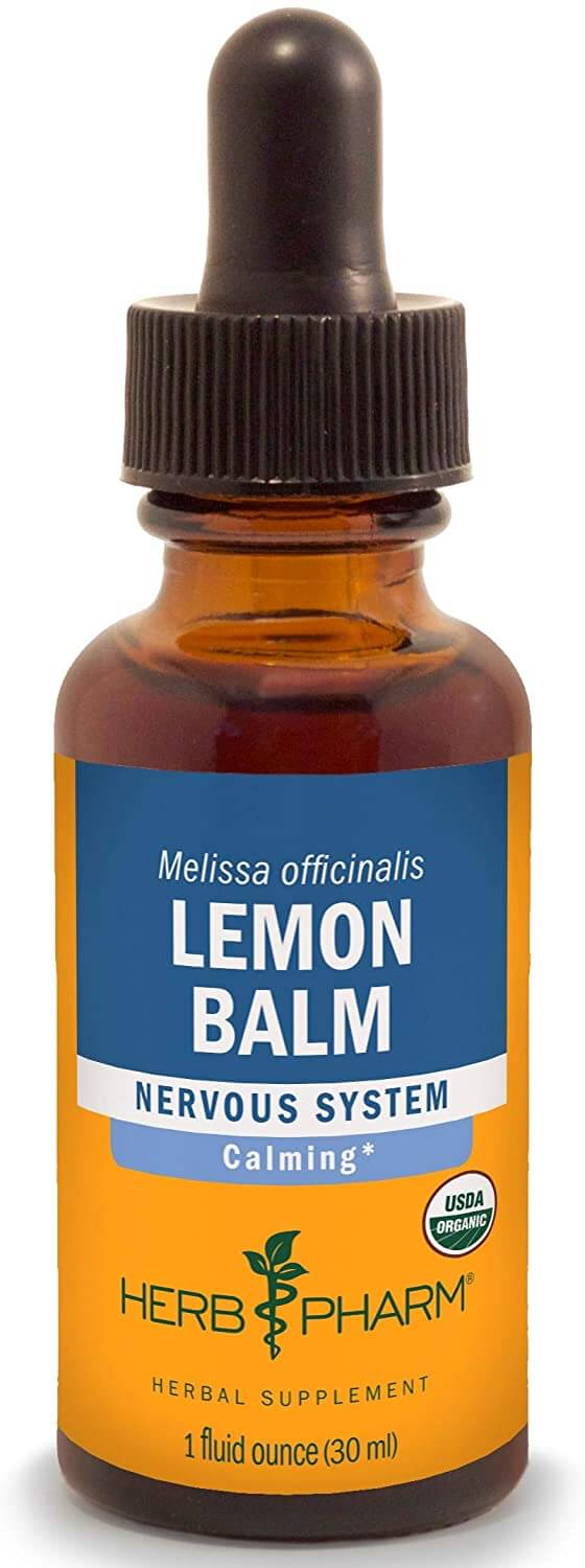 lemon balm herbs for anxiety in a form of drops
