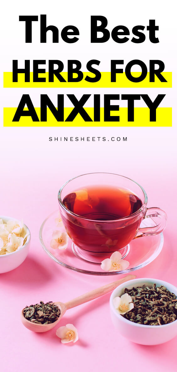 A cup of tea made from herbs for anxiety