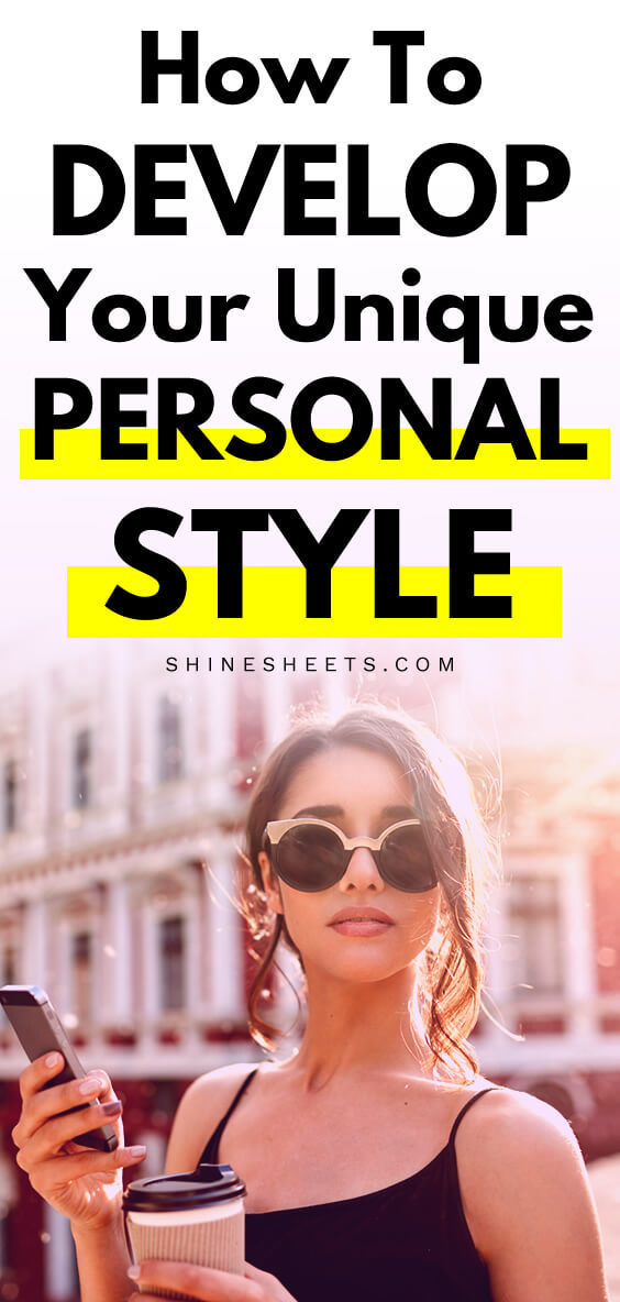Young woman with sunglasses and coffee cup shows off her personal style