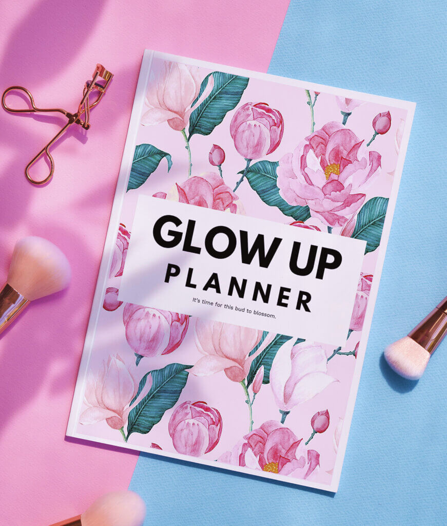 the glow up planner bestseller by shinesheets