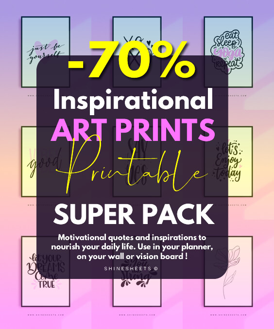 inspirational art prints super pack 3