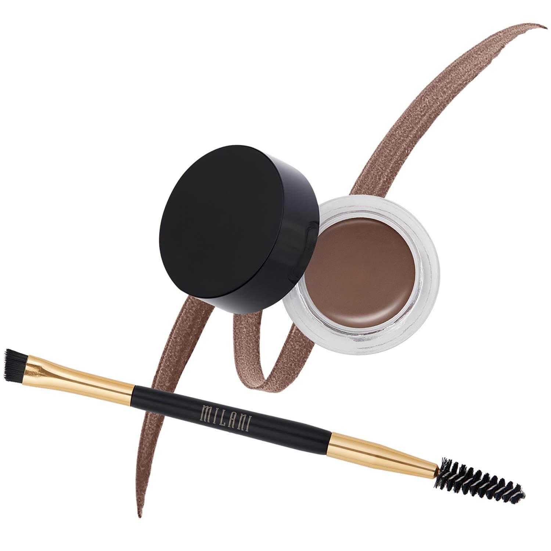 Dark brown eyebrow gel and brush kit by Milani