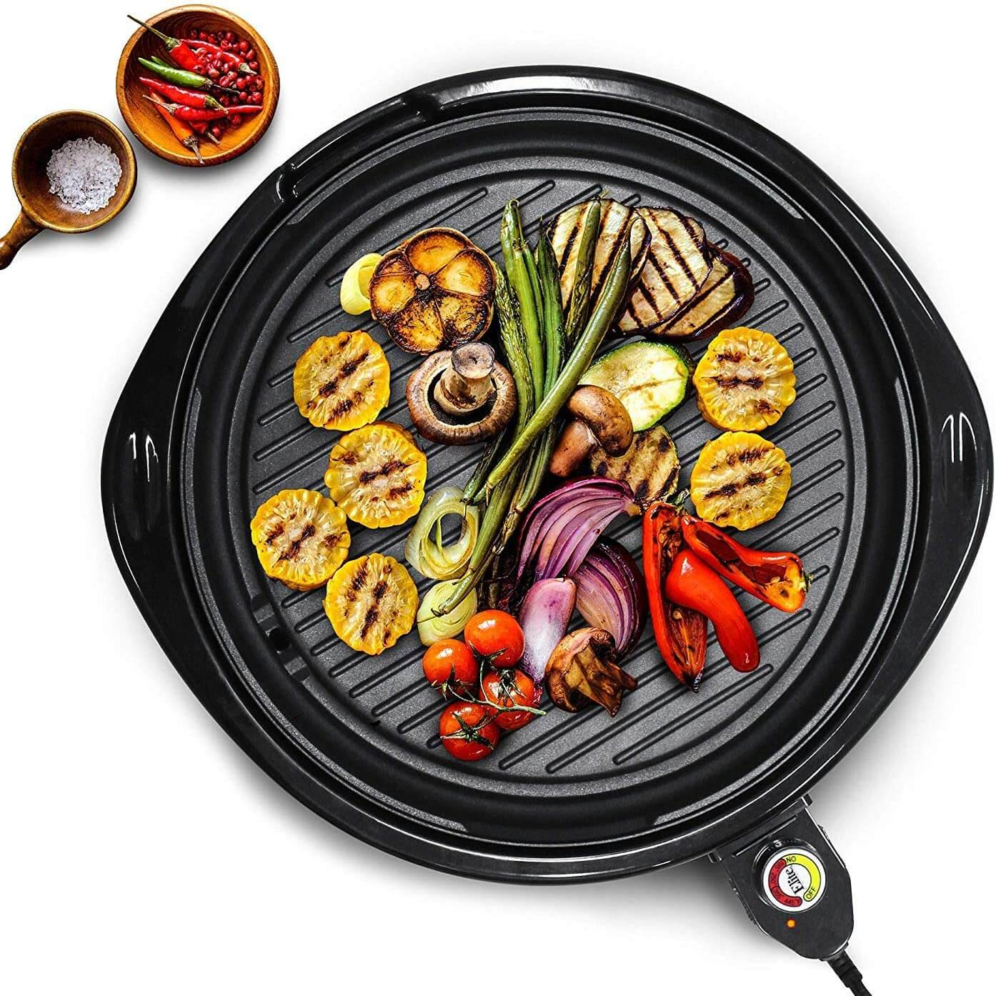 roasting veggies on electric grill as a way to make healthy food taste good