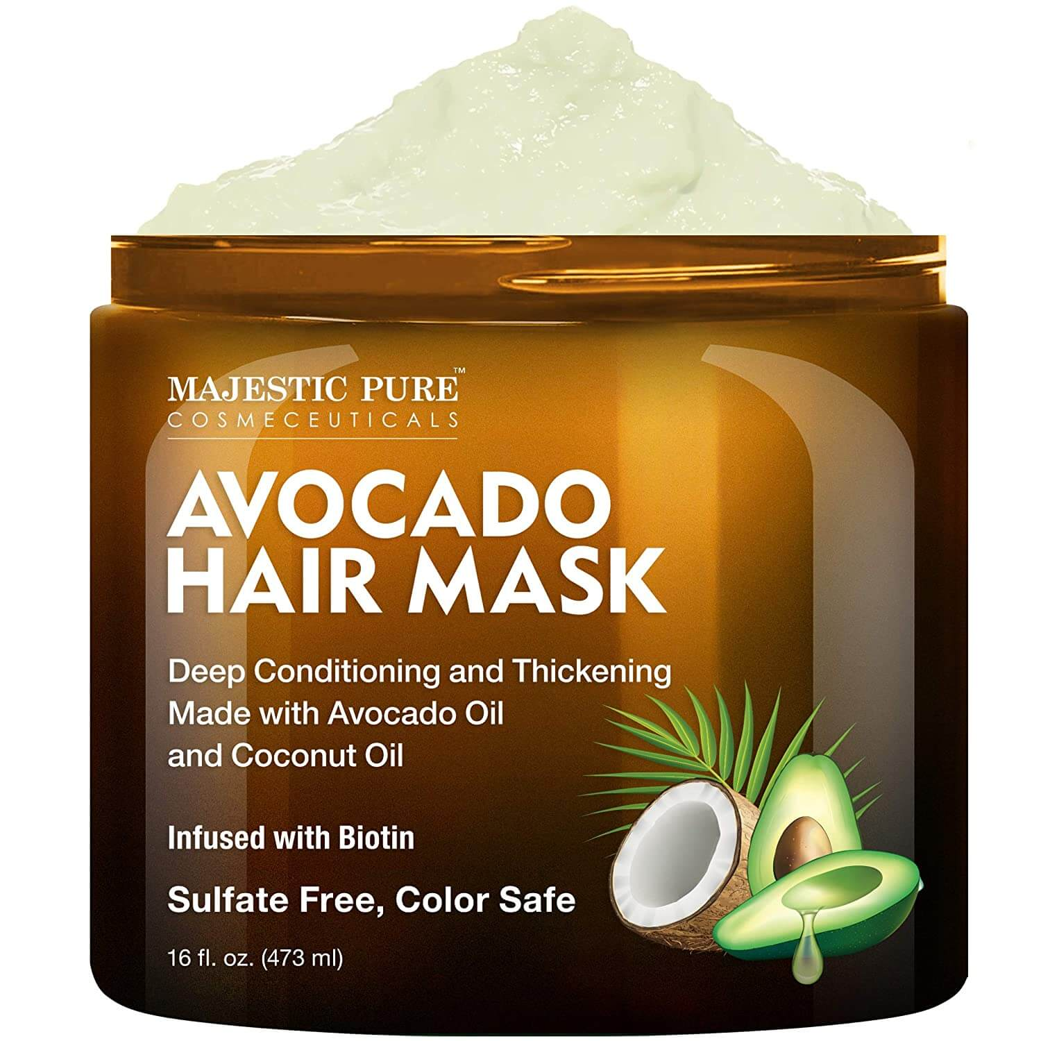 Avocado hair mask in a jar as one of the tips for healthy hair
