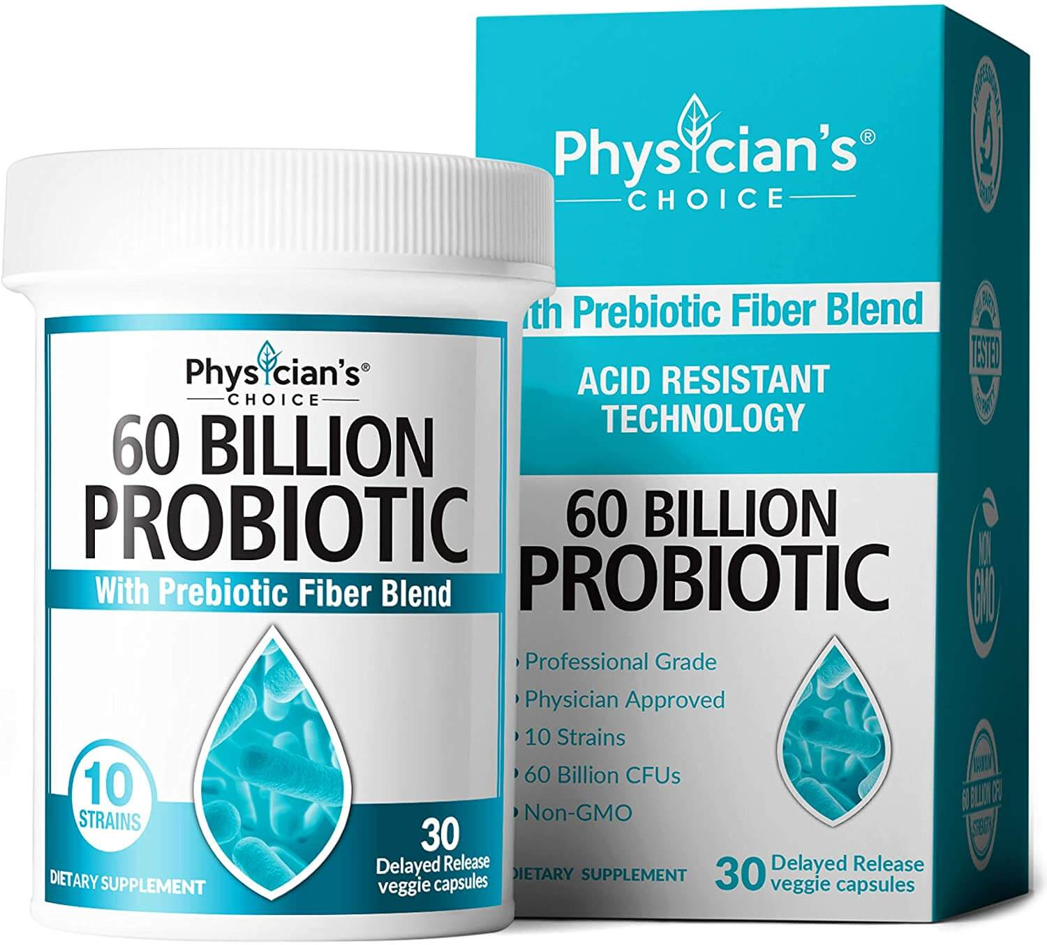 Physicians Choice Probiotic Supplement to help lose weight without exercise