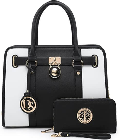 A designer bag and wallet as an expression of dressing sense