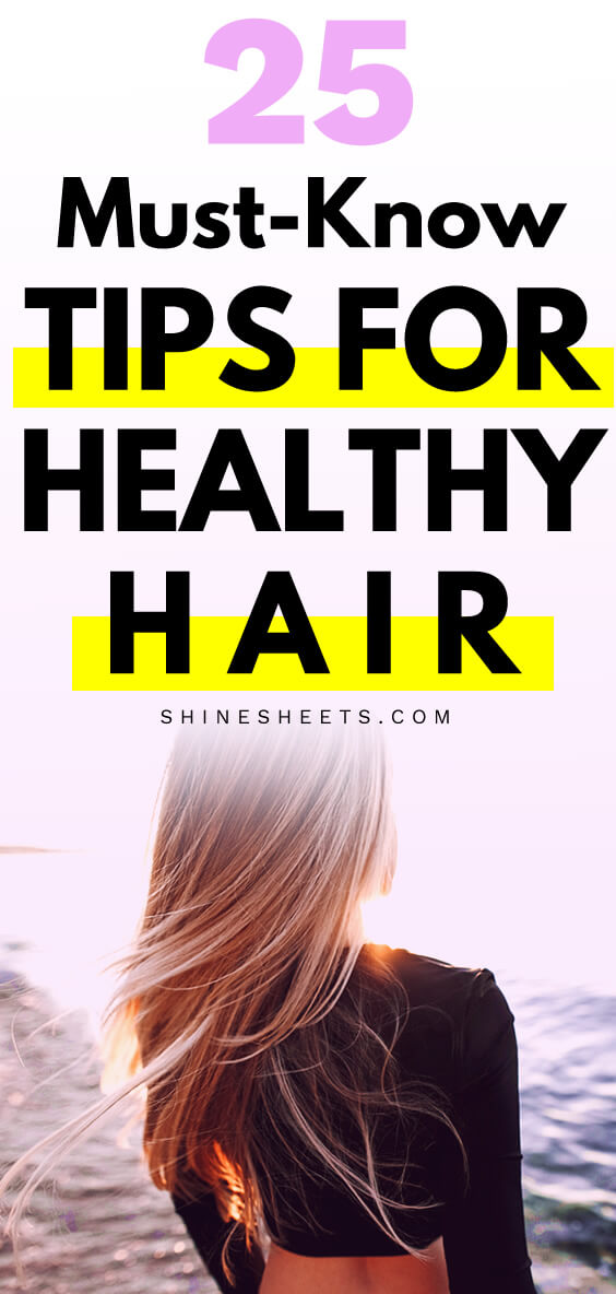 Blonde woman with long hair after using tips for healthy hair