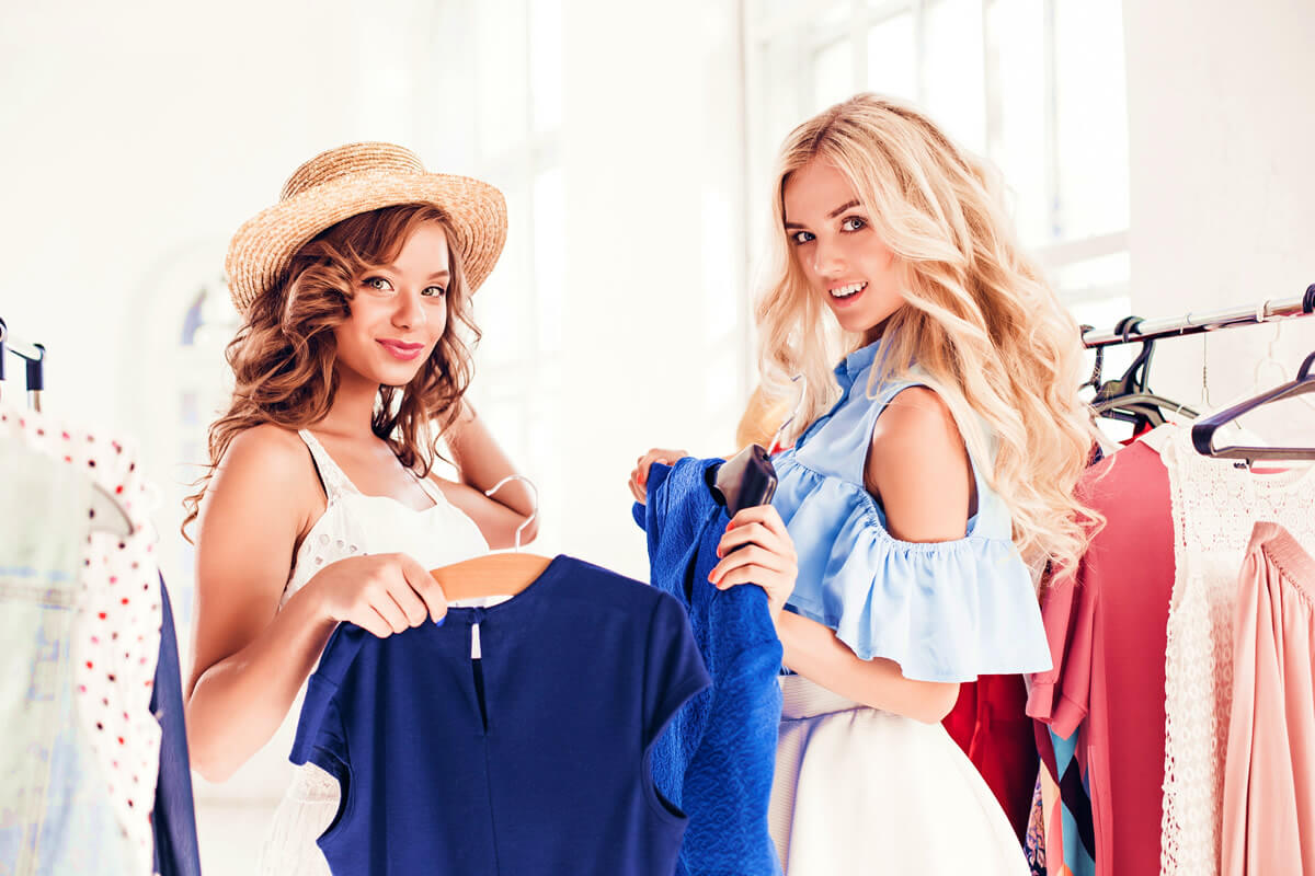 Two women showing great dressing sense by choosing colorful clothes