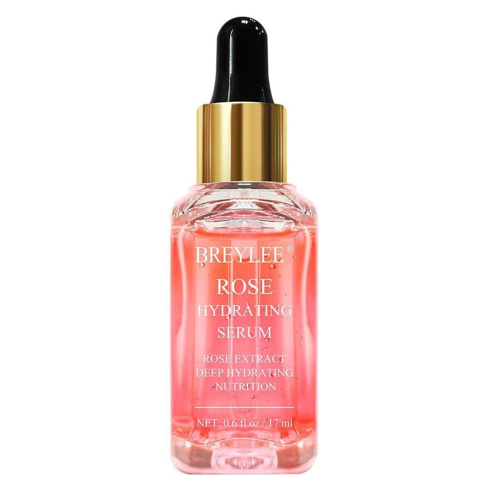 Rose hydrating serum as an example of what to use after a derma roller