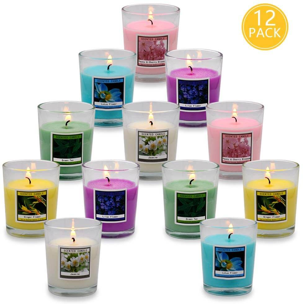 scented candles as a cheap way to decorate home