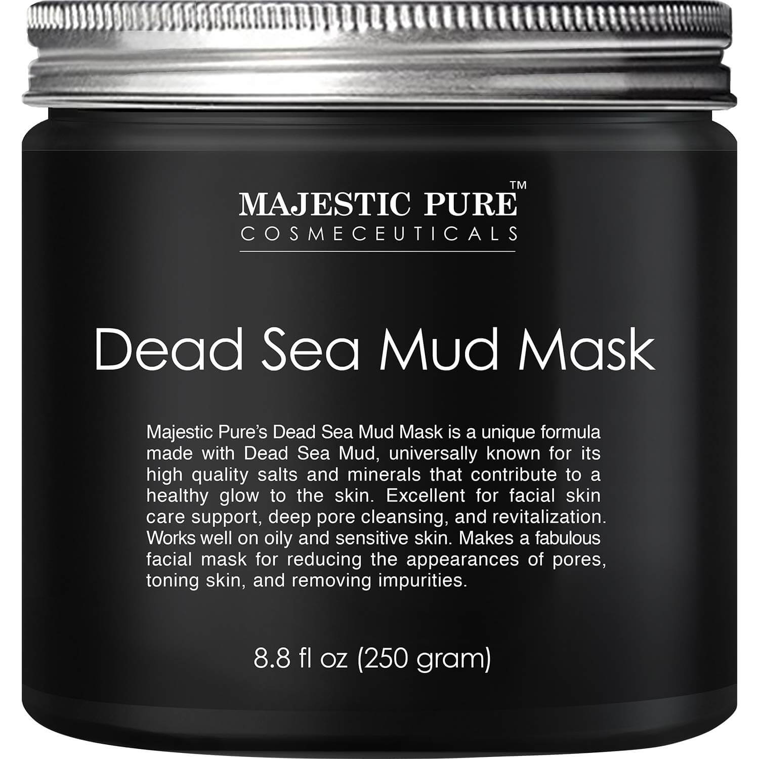 majestic pure dead sea mud mask as a face pack