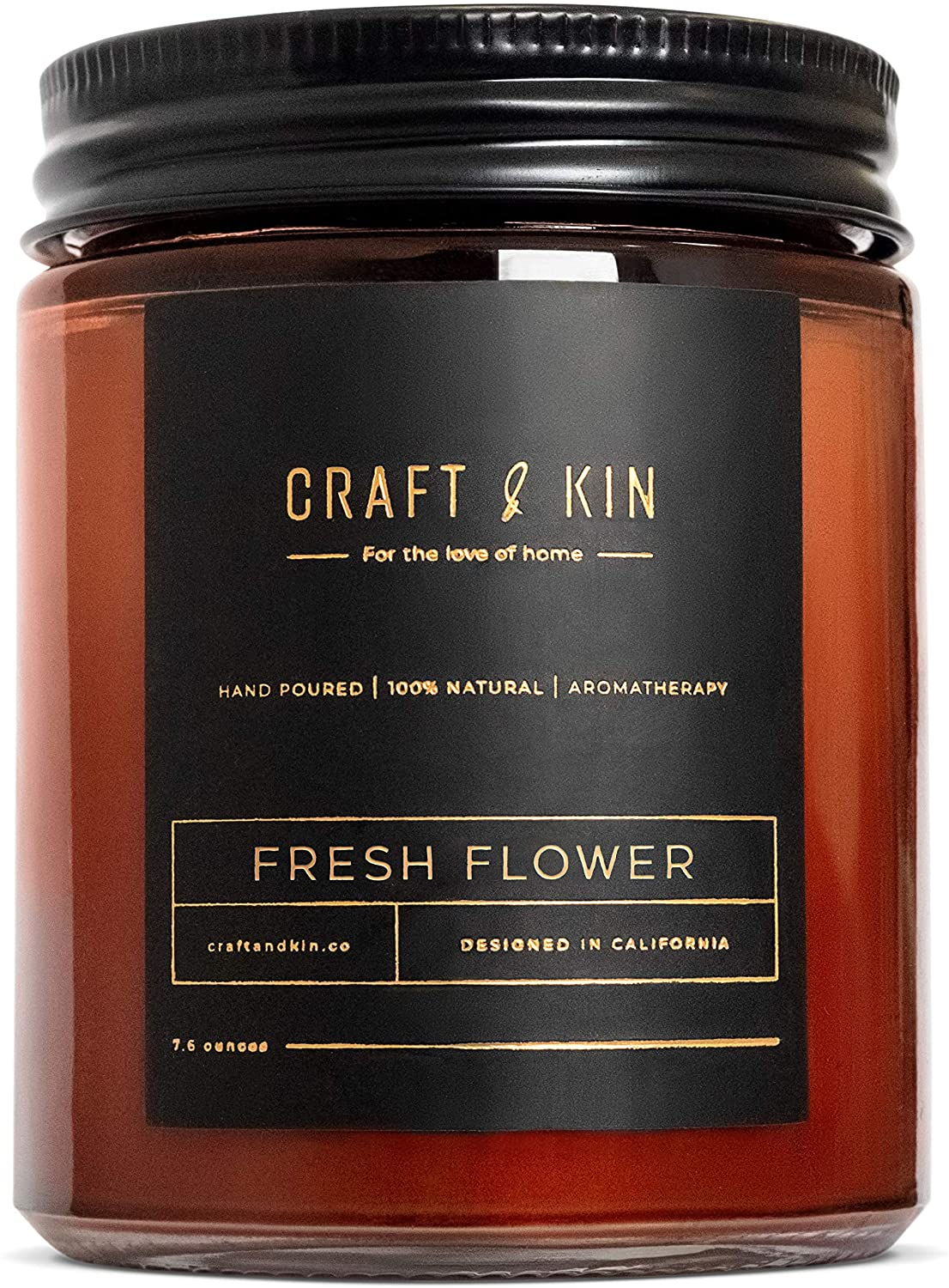 Craft & Kin soy candle as an addition for self care strategies