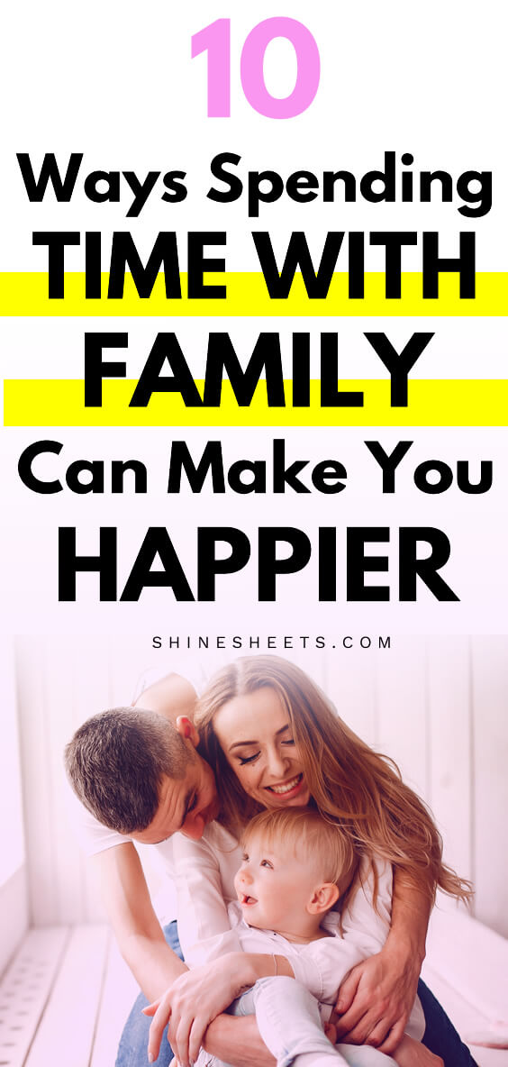 beautiful happy woman spending time with family